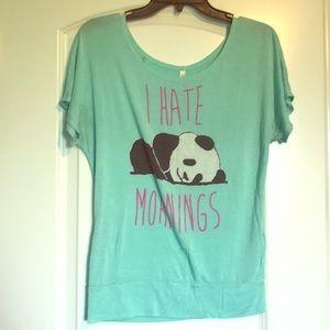 Mint Green Panda Shirt